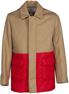 Kitsune Maison Quilted Panel Bicolour Jacket