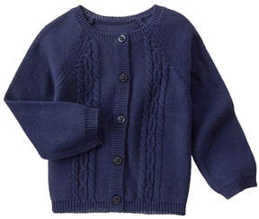 Gymboree Oxford Blue Cable-Knit Cardigan - Infant, Toddler & Girls