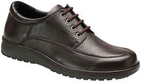 DREW Brown Tumbled Lincoln Leather Oxford - Men