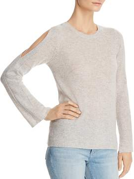 Bloomingdale's C by Cold-Shoulder Lightweight Cashmere Sweater - 100% Exclusive
