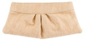 Lauren Merkin Woven Canvas Hinge Clutch