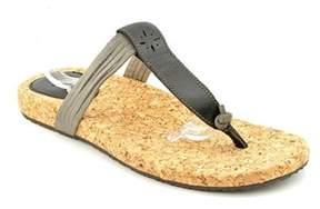 Caterpillar Klariza Women Open Toe Leather Black Slides Sandal.