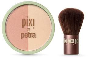 Pixi By Petra Beauty Blush Duo + Kabuki .36oz - Peach Honey