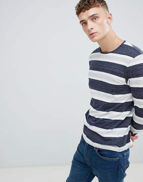 Esprit Long Sleeve T-Shirt With Gray Stripe