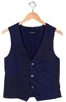 Scotch Shrunk Boys' V-Neck Patchwork Vest w/ Tags