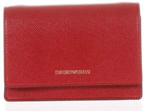 Emporio Armani Cholita Red Eco Leather Mini Bag With Logo