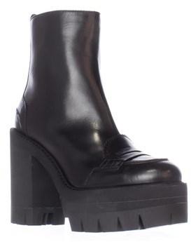 No.21 8660 Lug Sole Oxford Ankle Boots, Black.