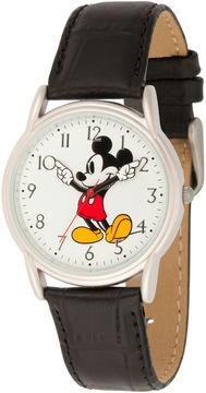 Disney Mickey Mouse Mens Black Strap Watch-Wds000403