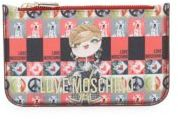 Love Moschino Printed Leather Pouch