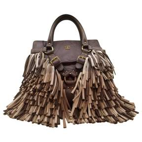 Just Cavalli Brown Leather Handbag