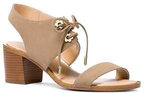 Michael Kors MICHAEL Women's Estela Suede Ankle Tie Block Heel Sandals