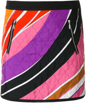 Emilio Pucci quilted mini skirt