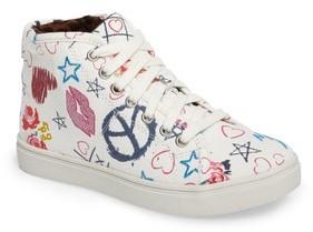 Steve Madden Girl's Jscribble High Top Sneaker
