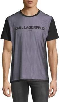 Karl Lagerfeld Short Sleeve Mesh T-Shirt