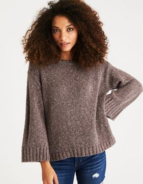 American Eagle Outfitters AE Boxy Side-Zip Sweater