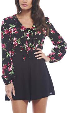 AX Paris Black & Pink Floral Fit & Flare Dress - Women