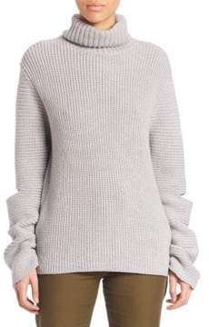 Public School Cotton & Merino Wool Rib-Knit Pullover