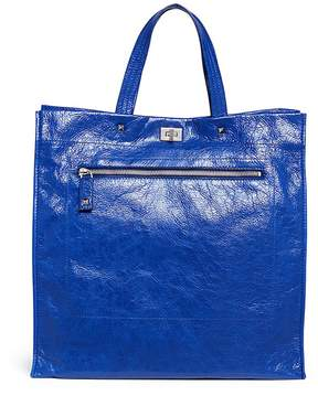 Valentino Crinkled leather tote bag