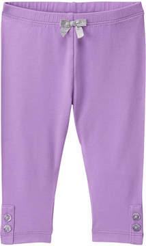 Gymboree Purple Bow-Accent Leggings - Infant