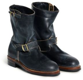 Ralph Lauren Leather Engineer Boot Black 10