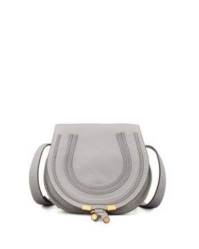 Chloé Marcie Small Leather Crossbody Bag, Gray