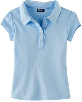 Chaps Girls 4-6x Ruffled Polo Shirt