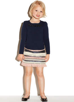Milly MINIS RHINESTONE PULLOVER