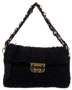 Nina Ricci Ruffled Chain-Link Strap Bag