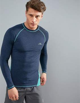 O'Neill Active Slim Fit Long Sleeve T-Shirt in Blue