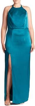 ABS by Allen Schwartz Women's Open-Back Halter Gown
