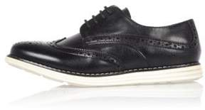River Island Boys black wedge brogues