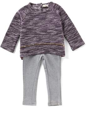 Jessica Simpson Baby Girls 12-24 Months Flyaway Slub-Knit Top & Jeggings Set