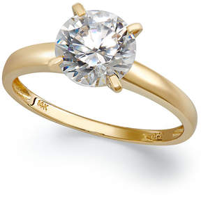 Arabella 14k Gold Swarovski Zirconia Solitaire Ring (3-1/2 ct. t.w.)