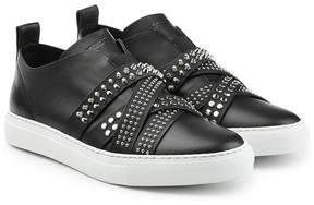 DSQUARED2 Leather Sneakers with Studded Straps