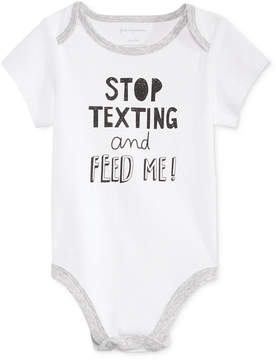 First Impressions Stop Texting Bodysuit, Baby Boys & Baby Girls (0-24 months), Created for Macy's