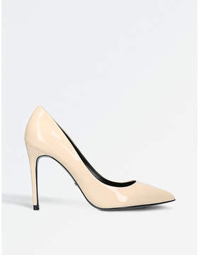 Carvela Apricot patent court shoes