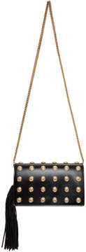 Balmain Black and Gold Coins Crossbody Bag