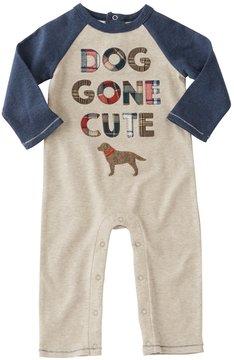 Mud Pie Baby Boys Newborn-9 Months Dog Gone Cute Coverall