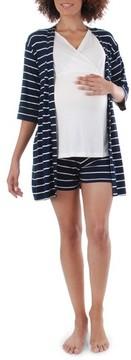 Everly Grey Women's Adalia 5-Piece Maternity/nursing Pajama Set