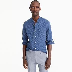 J.Crew Band-collar shirt in cotton poplin