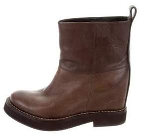 Brunello Cucinelli Monili-Trimmed Mid-Calf Boots