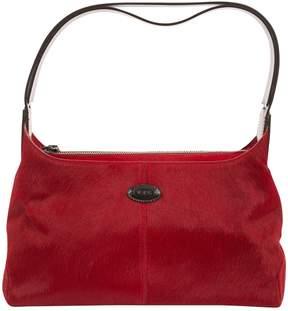 Tod's Red Pony-style calfskin Handbag