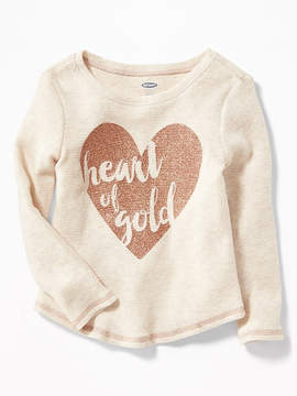 Old Navy Solid Thermal Tee for Toddler Girls