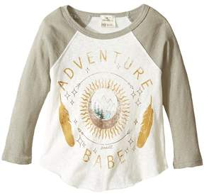 O Adventure Girl Long Sleeve Screen Tee (Little Kids/Big Kids)