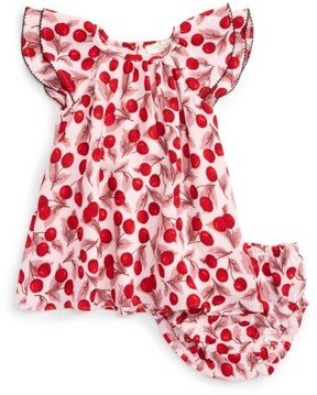 Kate Spade Infant Girl's Cherry Print Flutter Sleeve Dress