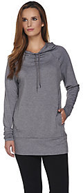 Cuddl Duds As Is Comfortwear French Terry Hooded Tunic