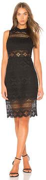 J.o.a. Mock Neck Lace Dress