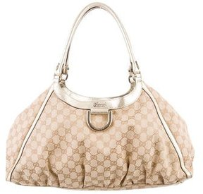 Gucci Large GG D-Ring Hobo - BROWN - STYLE