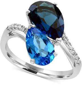 Effy Ocean Bleu by Blue Topaz (5-1/3 ct. t.w.) and Diamond Accent Ring in 14k White Gold