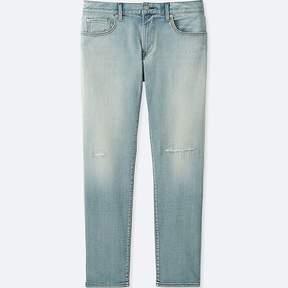 Uniqlo Men's Stretch Selvedge Slim Fit Distressed Jeans